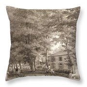 No.3933.f8 View Of The Stables On Lord Throw Pillow