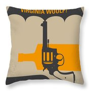 No426 My Whos Afraid Of Virginia Woolf Minimal Movie Poster Throw Pillow