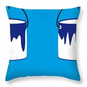 No427 My Home Alone Minimal Movie Poster Throw Pillow