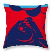 No433 My Piranha Minimal Movie Poster Throw Pillow