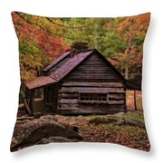 Noah Ogle Place In The Smoky Mountains Throw Pillow