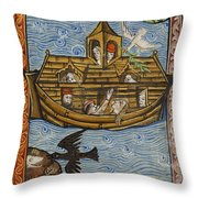 Noahs Ark, 1190 Throw Pillow by Getty Research Institute