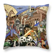 Noahs Ark Throw Pillow by Anthony Falbo