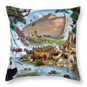 Noahs Ark - The Homecoming Throw Pillow