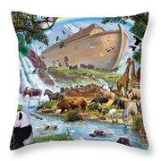 Noahs Ark - The Homecoming Throw Pillow by Steve Crisp