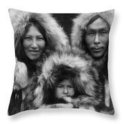 Noatak Indians Circa 1929 Throw Pillow