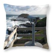 The Nobbies Outlook - Great Ocean Road, Australia Throw Pillow