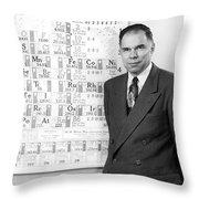 Nobel Winner Glenn Seaborg Throw Pillow