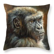 Noble Ape Throw Pillow