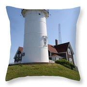 Nobska Light Station Throw Pillow