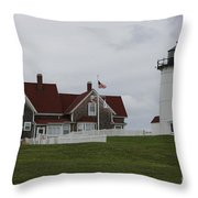Nobska Point Light Throw Pillow
