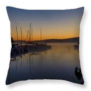 Nockamixon Marina At Dawn Throw Pillow