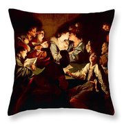 Nocturnal Concert Throw Pillow by Jean  Leclerc