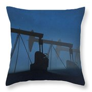 Nocturnal Donkeys Throw Pillow