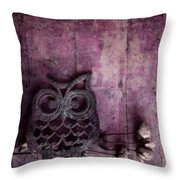 Nocturnal In Pink Throw Pillow