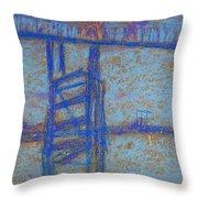 Nocturne. Battersea Bridge Throw Pillow