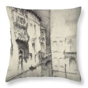 Nocturne Palaces Throw Pillow