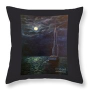 Nocturne Song Throw Pillow
