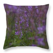 nodding fireweed Netherlands Throw Pillow