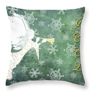 Noel Christmas Card Throw Pillow