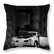 Noir City Throw Pillow