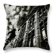 Noir Moment In Brugges Throw Pillow