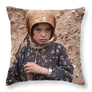 Nomad Girl Throw Pillow