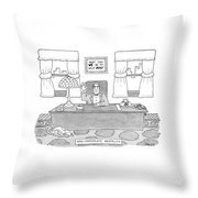 Non-corporate Mentality Throw Pillow