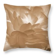 Non-stop Begonia Petals Throw Pillow