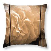 Non-stop Begonia Triptych Throw Pillow