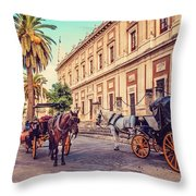 Noon At Cathedral Square. Seville Throw Pillow