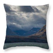Noontide At St. Mary Lake Throw Pillow