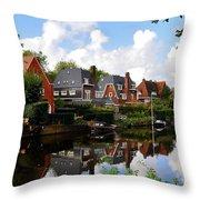Noorder Amstelkanaal Amsterdam Throw Pillow
