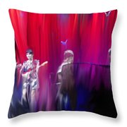 Norah Jones On Stage Throw Pillow