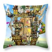 Norah's Ark Throw Pillow by Colin Thompson