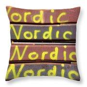 Nordic Rusty Steel Throw Pillow