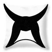 Nordic Symbol Horns Throw Pillow