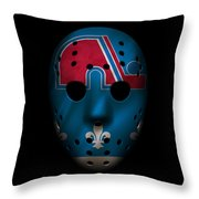 Nordiques Jersey Mask Throw Pillow