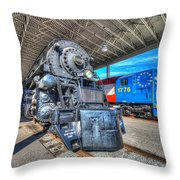 Norfolk And Western 1218 And 1776 Throw Pillow