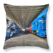 Norfolk And Western 1776 And 1218 Throw Pillow