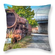 Norfolk And Western Class M2c  No 1151 Throw Pillow