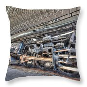 Norfolk And Western Locomotive 1218 Throw Pillow