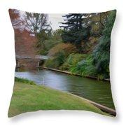 Norfolk Botanical Gardens Canal 3 Throw Pillow