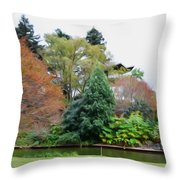 Norfolk Botanical Gardens Canal 9 Throw Pillow