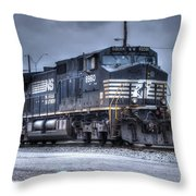 Norfolk Southern #8960 Engine II Throw Pillow