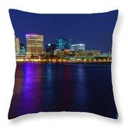 Norfolk Waterside Throw Pillow