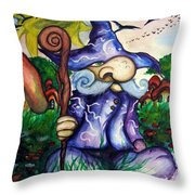 Norm The Little Old Wizard Throw Pillow