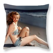 Norma Jeane Throw Pillow