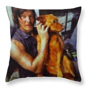 Norman And Charlie  Throw Pillow