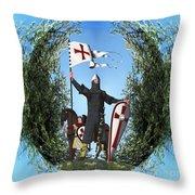 Norman Crusader Throw Pillow